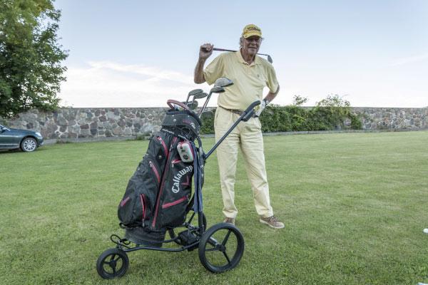 Hans Albrecht von Maltzahn bei seinem Lieblingssport dem Golfen