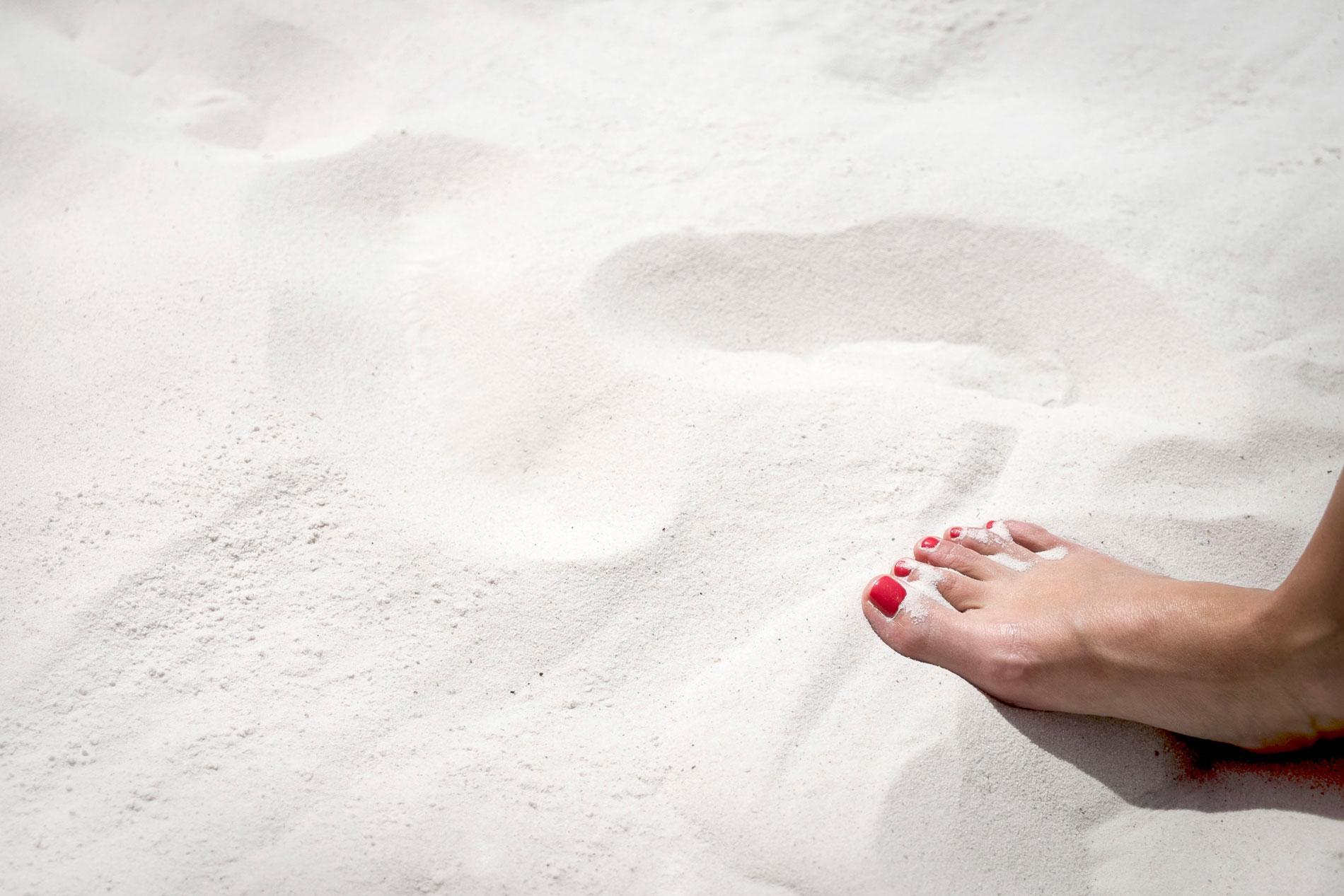 Schöner weißer Ostseesand