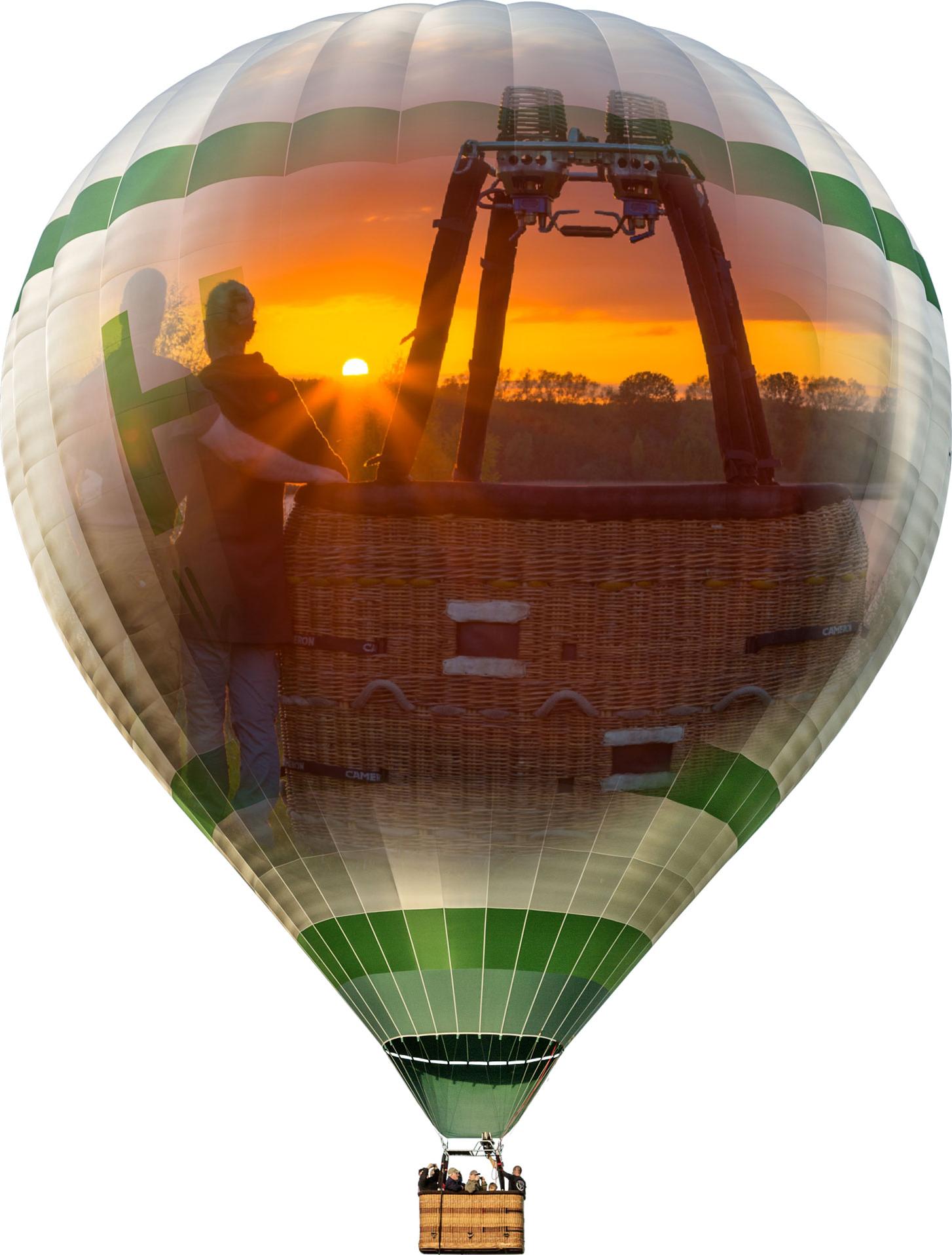Mit dem Ballon in den Sonnenuntergang von Mecklenburg-Vorpommern fliegen